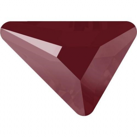 2739 Triangle Beta Crystals, Flatback, No-Hotfix, Dark Red